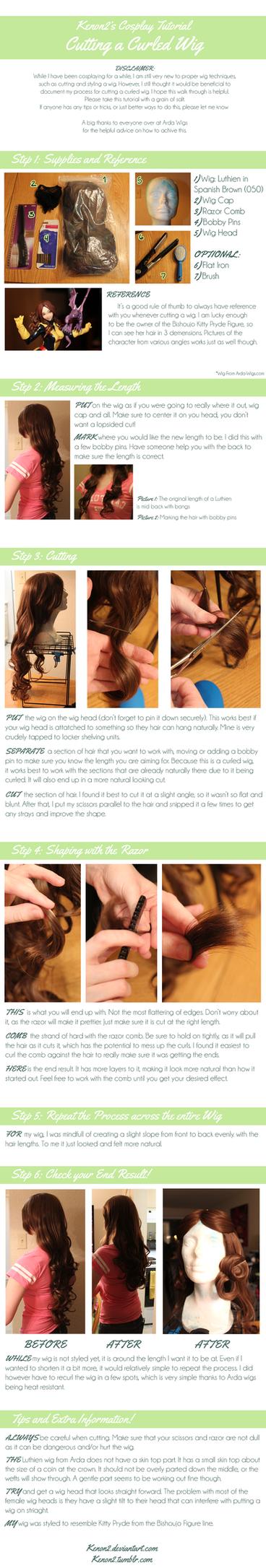 Wig Tutorial: Cutting a Curled Wig by LilyBatCosplay