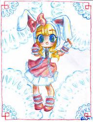 Bunny hoodie by Keigankun
