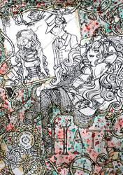 Hate, art masking fluid by Keigankun