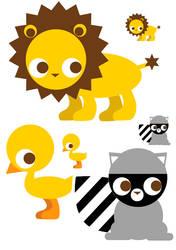 Vector animals by Keigankun