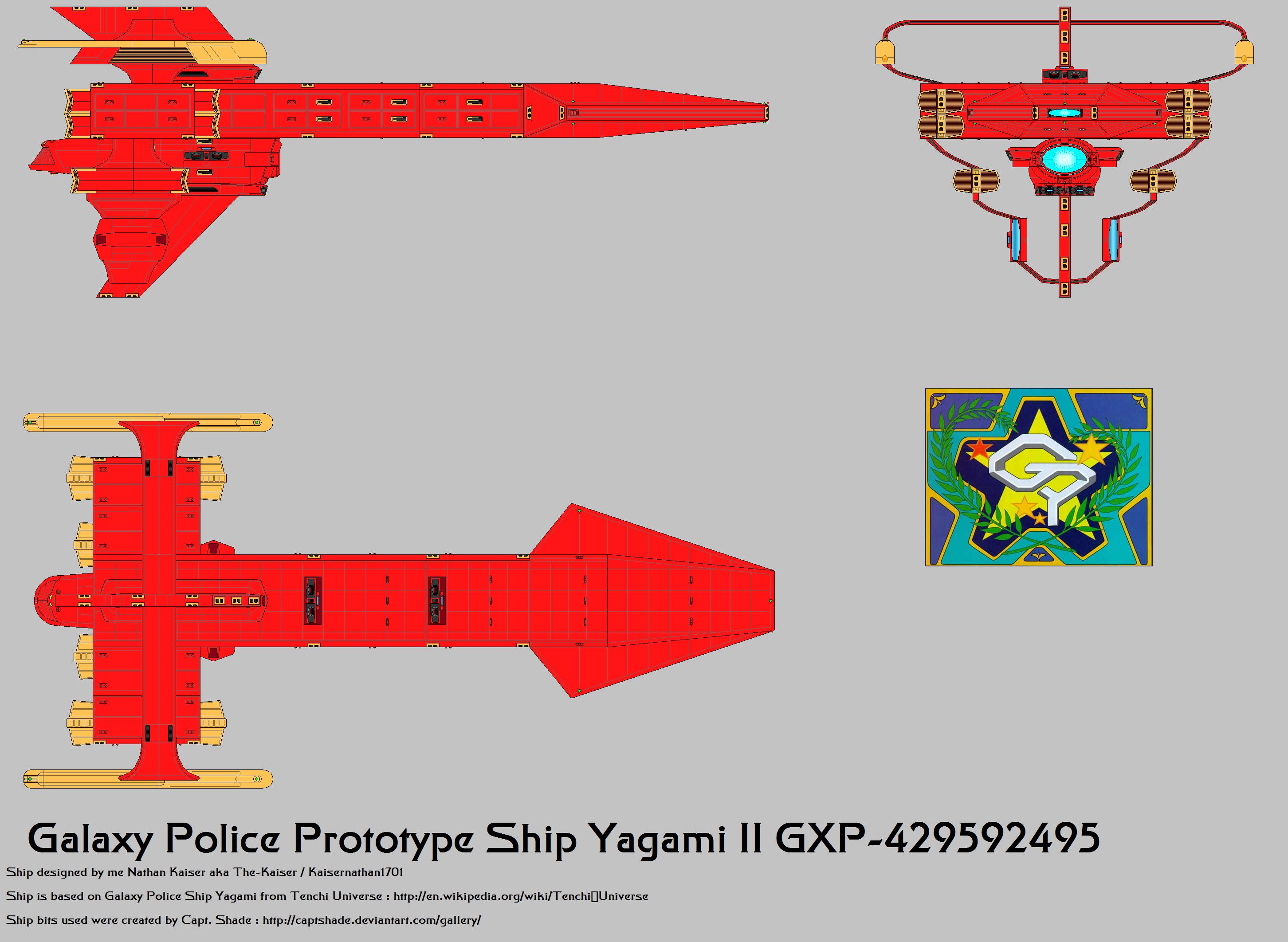 Galaxy Police Prototype ship Yagami II  Fix 2
