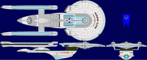 Excelsior Class Refit Color Corrected ( I think )
