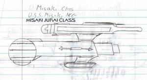 Misaki Jurai Class Paper Drawing V1