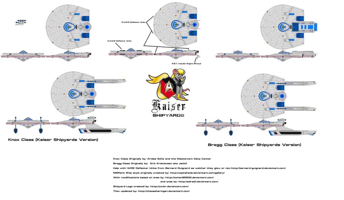 Knox-Bragg Class Kaiser Shipyards Version 2.0 by kaisernathan1701