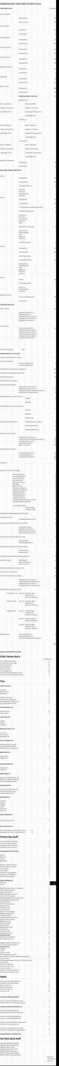 2018 Unopened Stuff So Far Pokemon and MLP:FiM TCG by kaisernathan1701