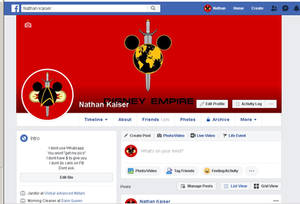 Facebook profile for Halloween month 2019