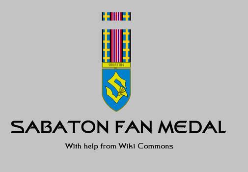 Sabaton Fan Medal and Ribbon