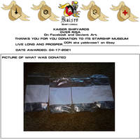 KAISER SHIP YARD DONATION CERTIFICATE yabbvoss1