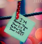 I'm better ...