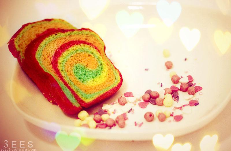 Mini rainbow toast ...