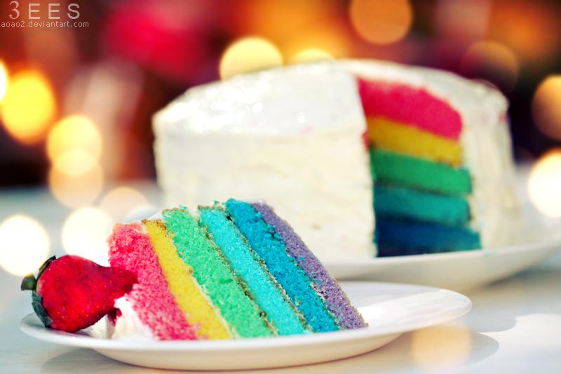 Rainbow cake ...