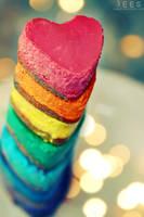 Rainbow hearts ... by aoao2
