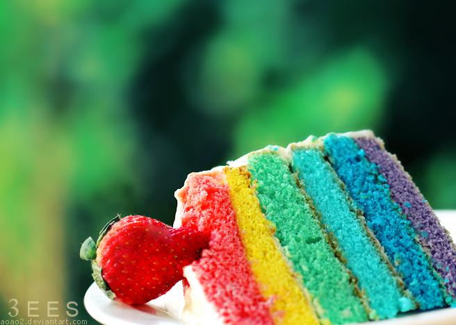 Rainbow cake by aoao2