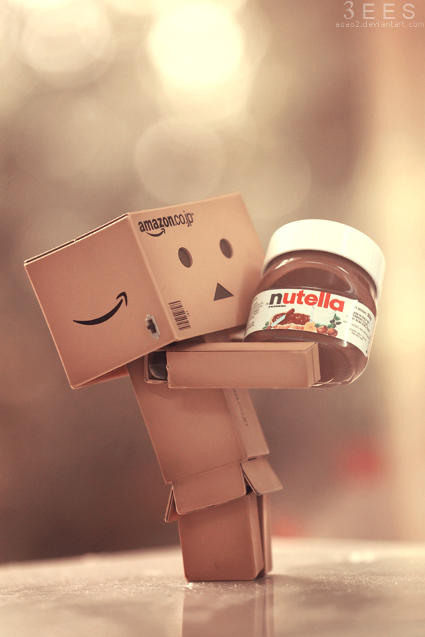 Danbo loves Nutella ... by aoao2