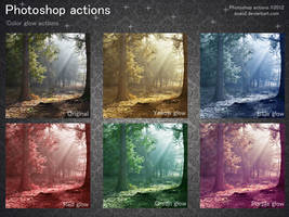 Photoshop color glow actions by aoao2