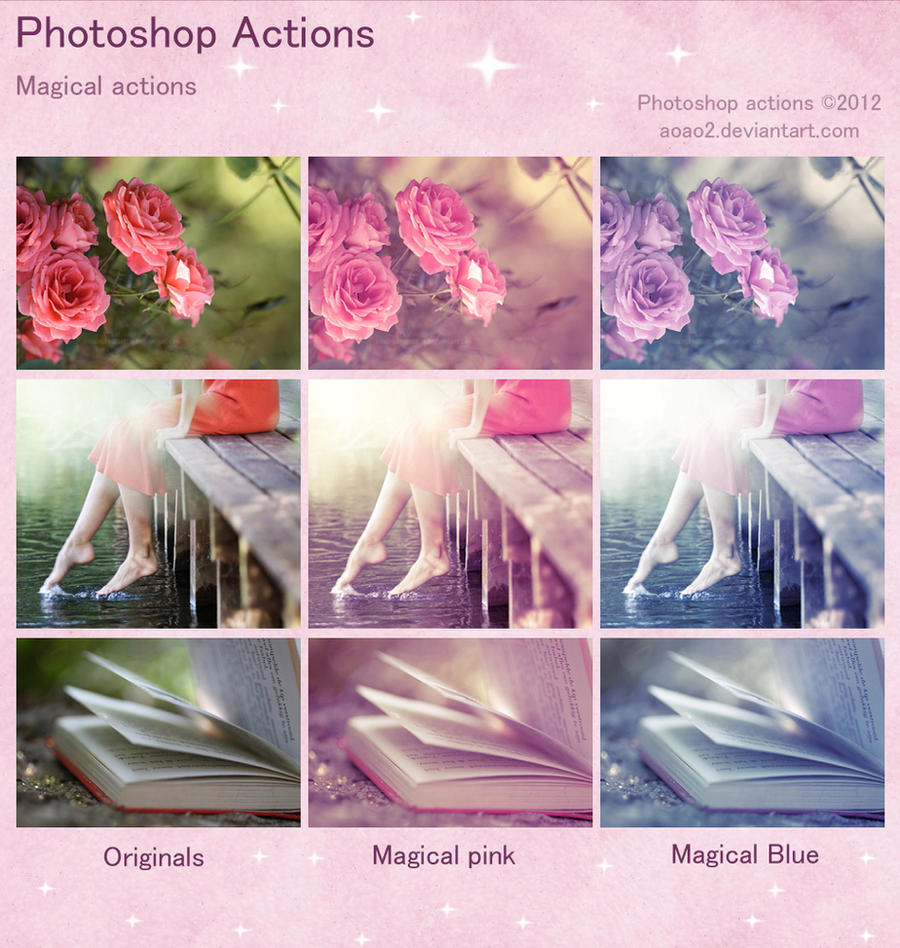 Photoshop Magical Actions by aoao2