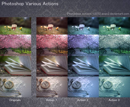 Photoshop Various Actions