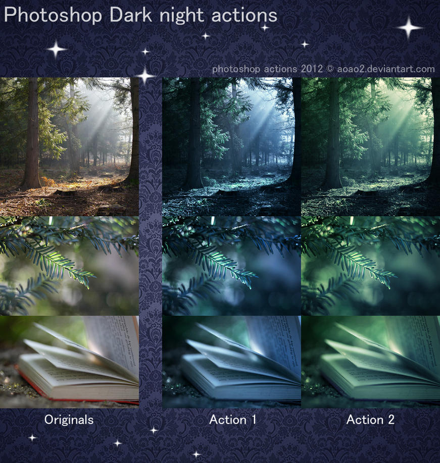 Photoshop Dark night actions by aoao2