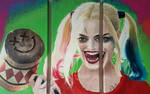 Harley Quinn Triptych Painting