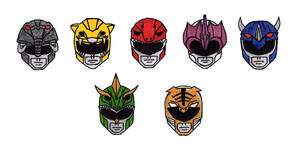 Mighty Morphin Power Ranger Helmets