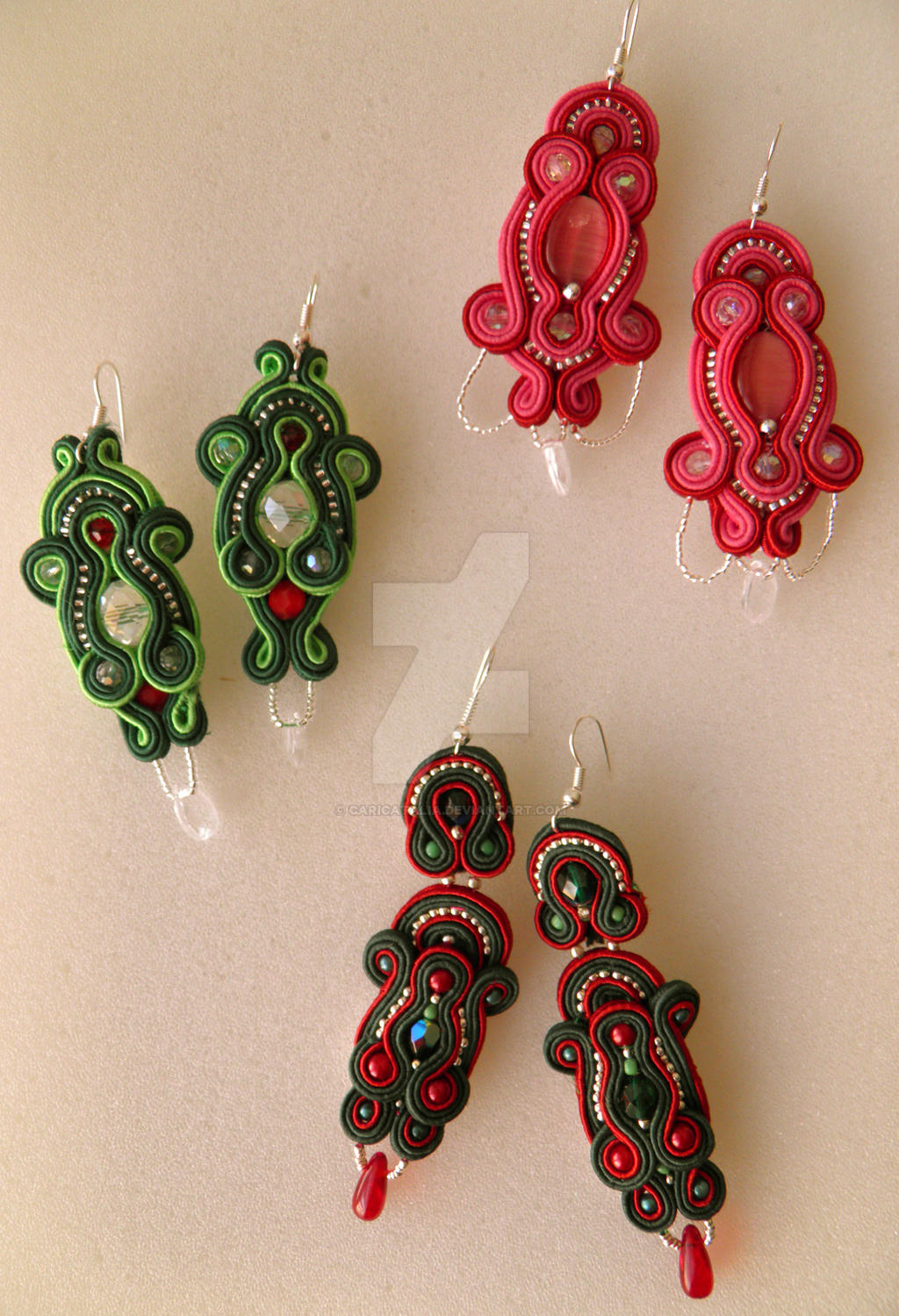 how to make soutache earrings
