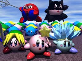 Kirby Army by lorienelf