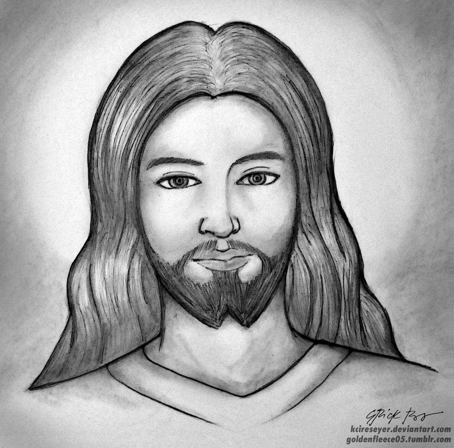 Jesus Simple Drawing Jesus Christ Drawings