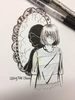 InkTober Day 6: Reflection  by RedPhoenixAsh