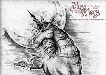 Beg the Moon - Unicorn by Meggyb