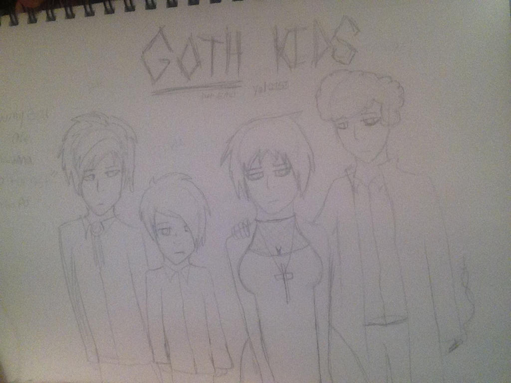 Goth Kids from South Park by yaoianimelover2151