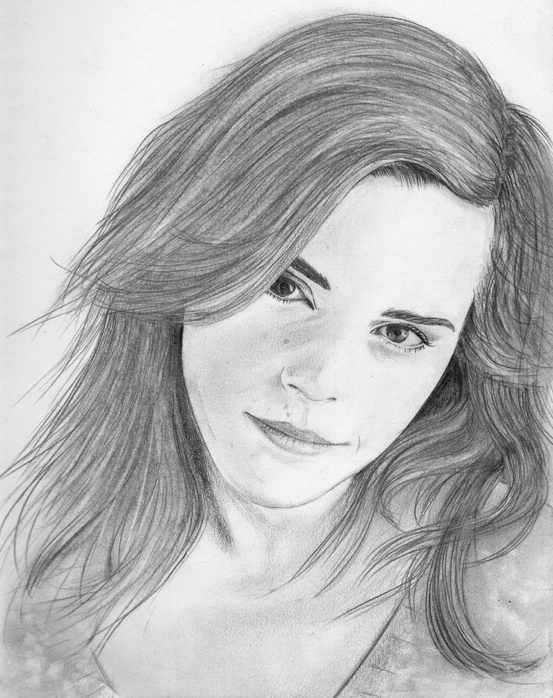 Portrait sketch 1 emma watson by squidandmilk on deviantart for How to draw good sketches