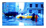 Under the blue rain
