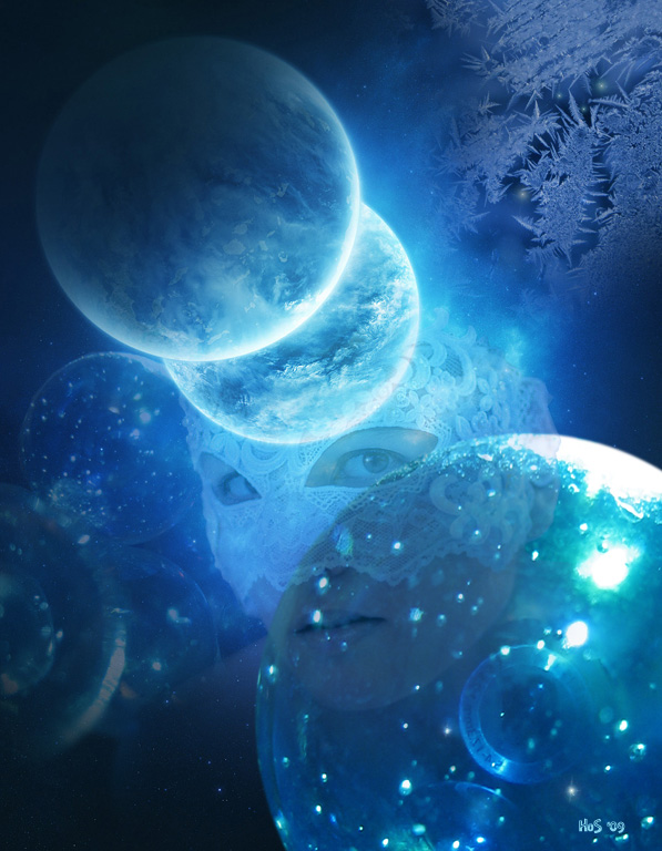 Distant blue planets by Hera-of-Stockholm on DeviantArt