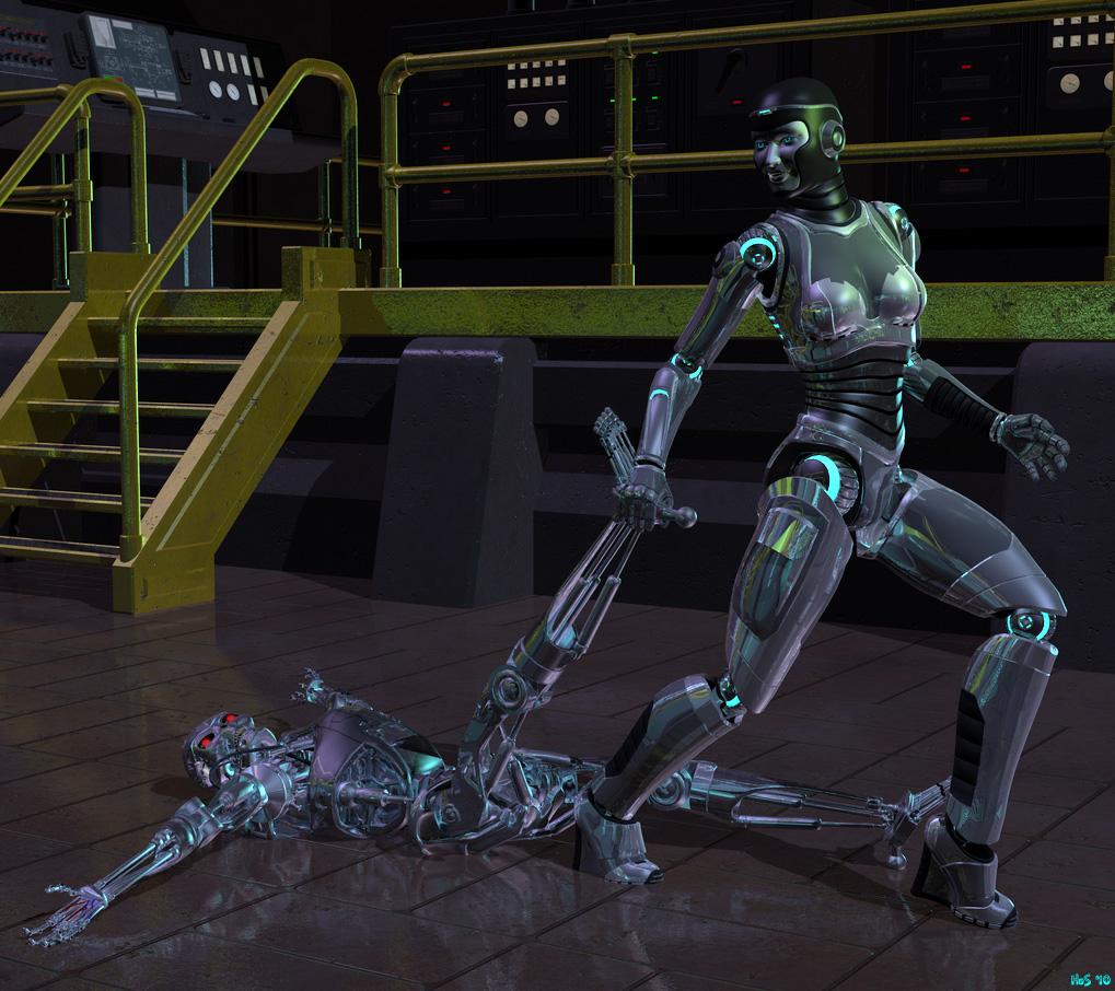 Programming a fembot to masturbate