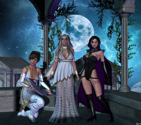 One moon three goddesses by Hera-of-Stockholm