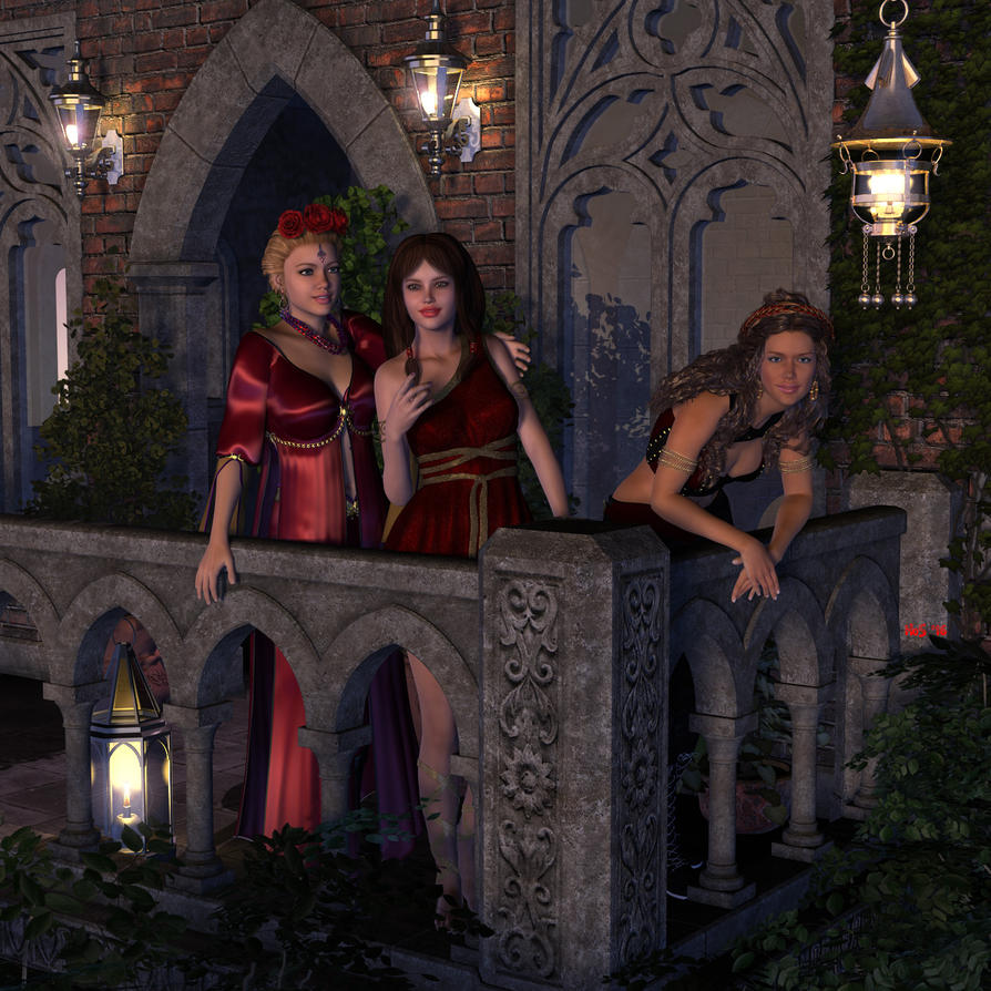 Khrysothemis, Persephone and Despiona by Hera-of-Stockholm