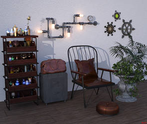Bottles and gadgets by Hera-of-Stockholm