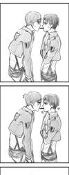 Eren x Rivaille Pepero Day by tifl429