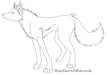 Free Wolf Lineart by Guardian-of-Elements