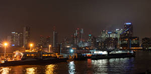 Beautiful Canary Wharf by night