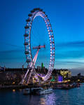 London Eye during Blue Hour