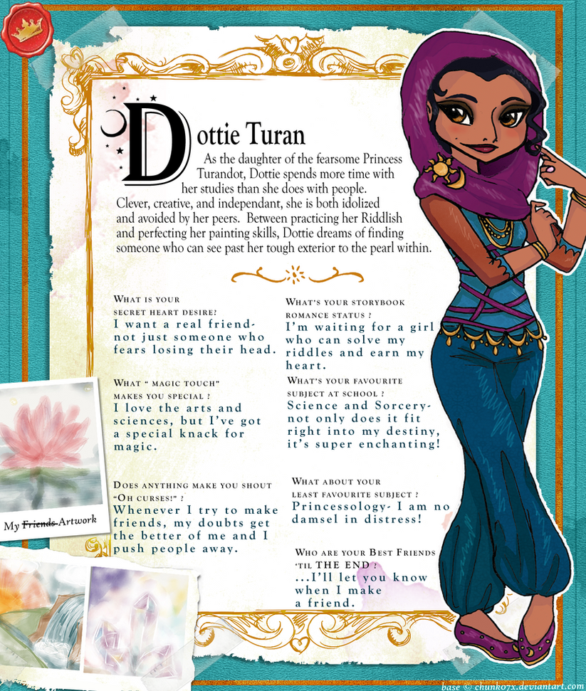 Dottie Turan (Ever After High OC) Profile Bio by ebabe227 ...