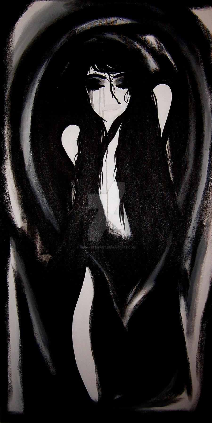 Black and White Woman by VivianStewart