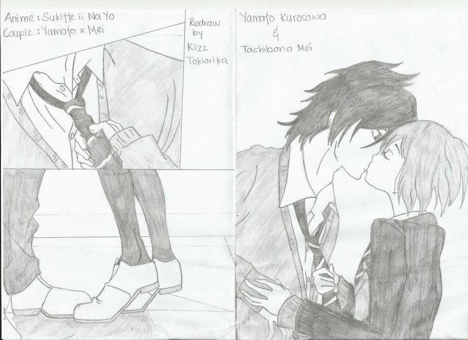 Redraw Yamato x Mei kiss scene by Tokiarika