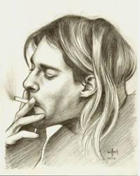 Kurt smoking by WilliamGioachino