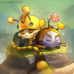 Yubee and Beemo (LoL) by AlexandraAlV