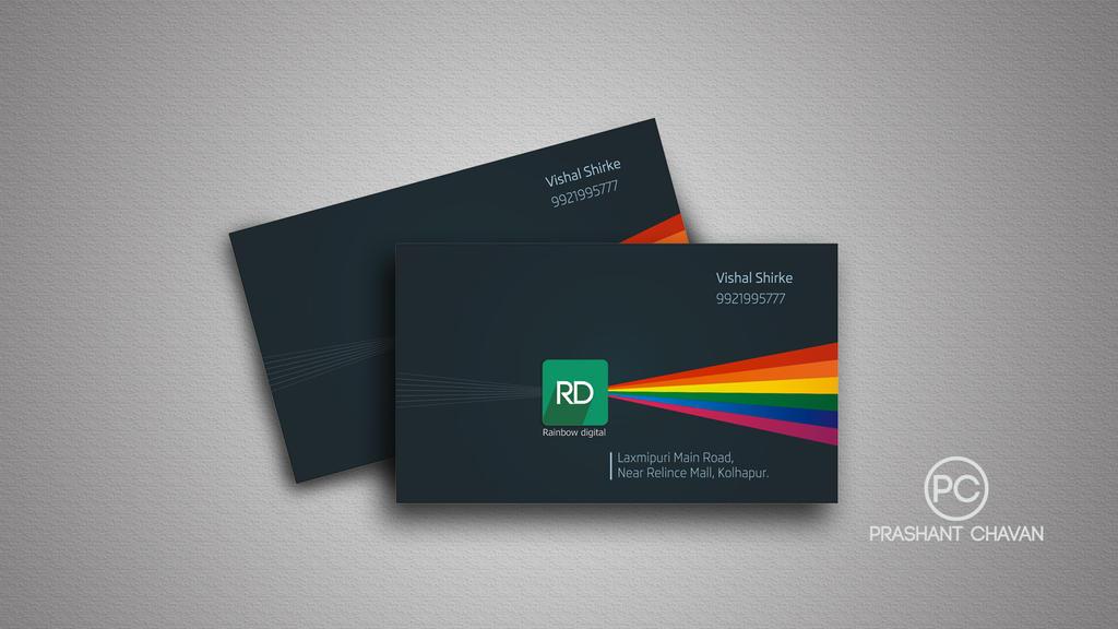 Rainbow digital visiting card by prashantgraphics on DeviantArt