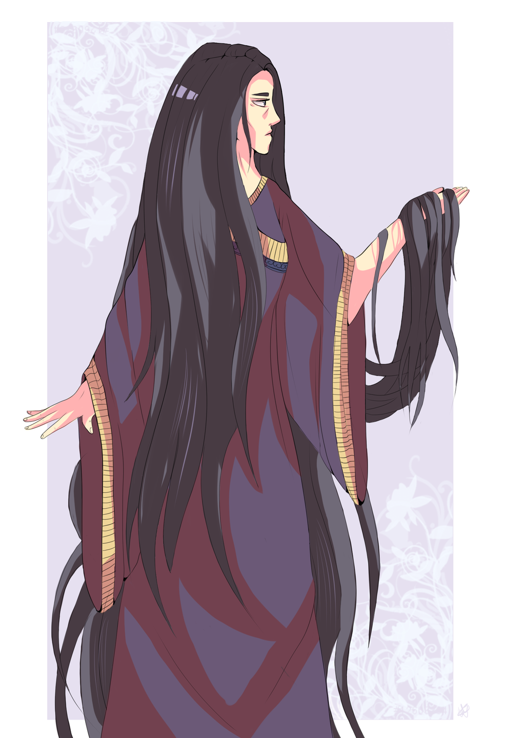 goichiru's oc: The Lady by WyllowDow