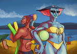 Beach fun - Ezor and Zethrid