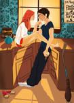 Harry and Ginny by hannahtess